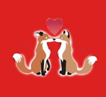 Valentines Day Foxes Kids Clothes