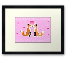 Valentines Day Foxes Framed Print