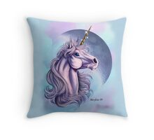 Lunar Unicorn  Throw Pillow