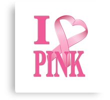 I Heart Pink Canvas Print