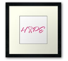 Hope Pink Cancer Awareness Ribbon Framed Print