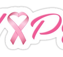 Hope Pink Cancer Awareness Ribbon Sticker