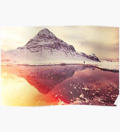 Scottish winter sunshine Poster