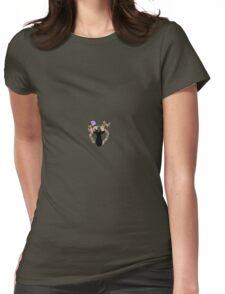 flower deer Womens Fitted T-Shirt