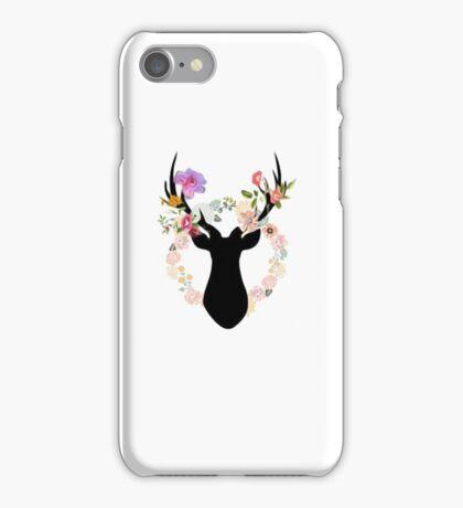 flower deer iPhone Case/Skin