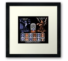 Classic Monster Fighter Framed Print