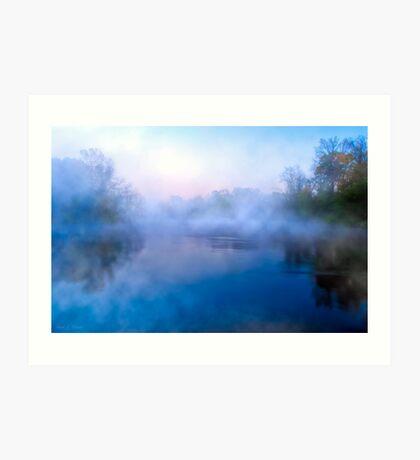 Water Colors On The Flint River - Georgia Landscapes Art Print