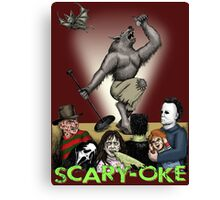 Scary-Oke Canvas Print