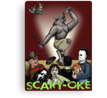 Scary-Oke Canvas Print