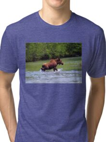 River Crossing Moose Tri-blend T-Shirt