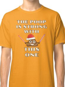 The Poop is Strong with this One - Christmas Emoji Jedi Parody Classic T-Shirt