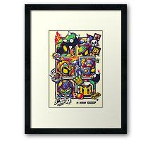 Bomber Battle - Player 01 Framed Print