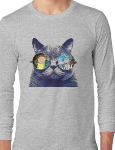 Rick and Morty Cat Long Sleeve T-Shirt