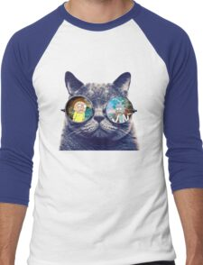Rick and Morty Cat Men's Baseball ¾ T-Shirt