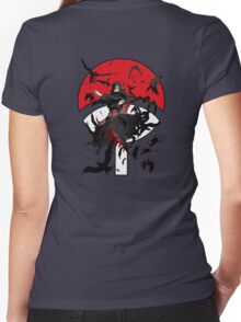 Dark Brother With His Crows Women's Fitted V-Neck T-Shirt