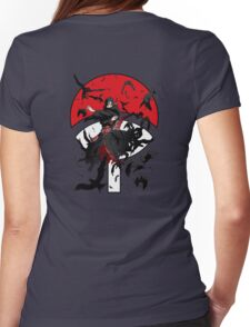 Dark Brother With His Crows Womens Fitted T-Shirt