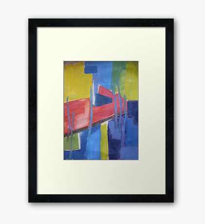 Abstraction Of Red Framed Print