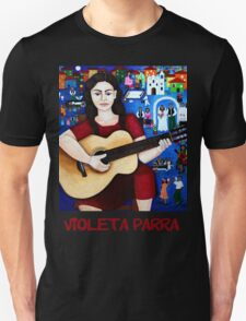 "Violeta Parra  and the song ""Black wedding""  Unisex T-Shirt"