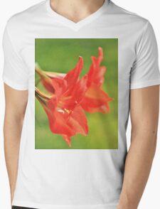 Red Flower Romance - Vibrant Beauty Mens V-Neck T-Shirt