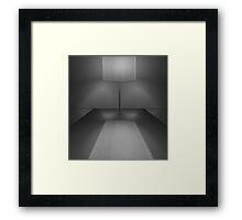 BLACK WHITE REFLECTING LAMP - COLLABORATION Framed Print