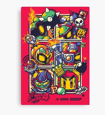 Bomber Battle - Player 03 Canvas Print