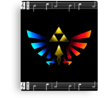 Legend of Zelda Emblem Canvas Print
