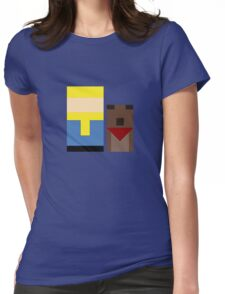 Vault Boy & Dogmeat Womens Fitted T-Shirt