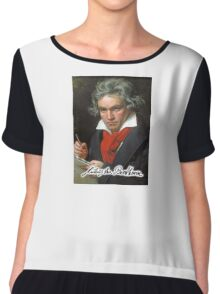 Ludwig van Beethoven, German composer and pianist. Portrait, on Black Chiffon Top