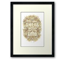 Up To No Good Framed Print