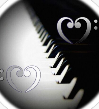 Piano Cleft as YinYang Sticker