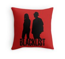 Red and Liz Silhouettes  Throw Pillow