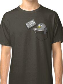 Pocket penguin wants fish Classic T-Shirt