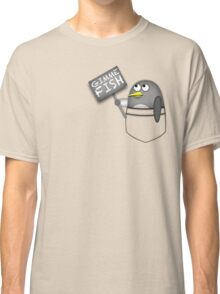 Pocket penguin wants fish Classic T-Shirt