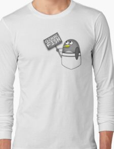 Pocket penguin wants fish Long Sleeve T-Shirt