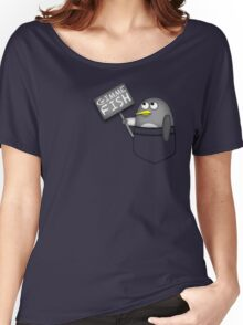 Pocket penguin wants fish Women's Relaxed Fit T-Shirt