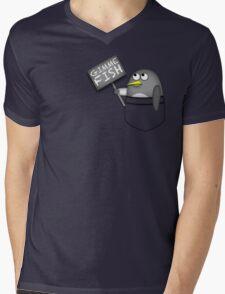Pocket penguin wants fish Mens V-Neck T-Shirt