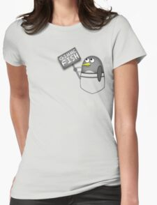 Pocket penguin wants fish Womens Fitted T-Shirt