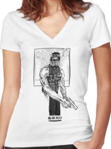 Memento Women's Fitted V-Neck T-Shirt