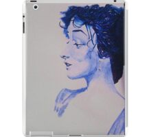 The Woman in Blue iPad Case/Skin