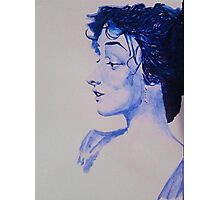 The Woman in Blue Photographic Print