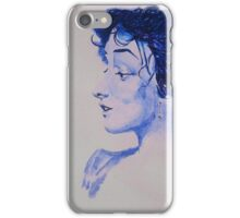 The Woman in Blue iPhone Case/Skin