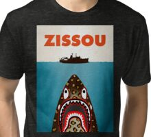 zissou feat bape shark Tri-blend T-Shirt