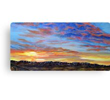 Daybreak Over South Hills Canvas Print