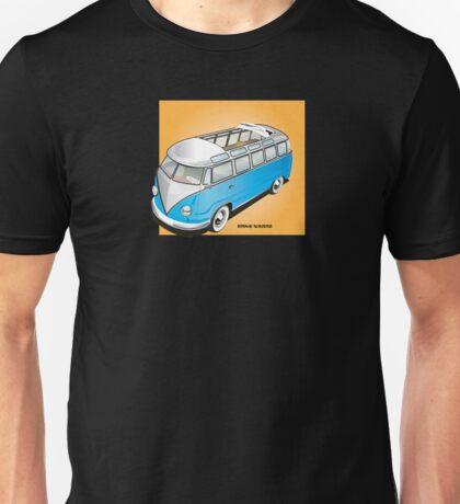 Old Style Barndoor VW Bus Blue Unisex T-Shirt