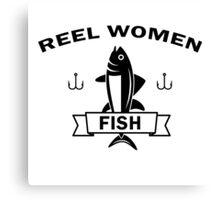 Reel women fish Canvas Print