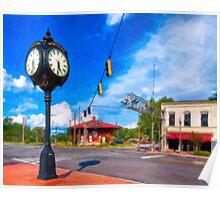 Small town Crossroads - Montezuma Georgia Poster