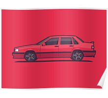 Volvo 850 T-5R Saloon (Red) Poster