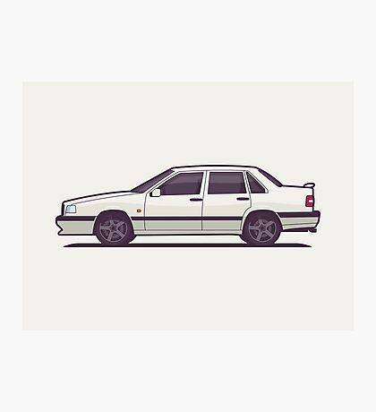 Volvo 850 T-5R Saloon (White) Photographic Print