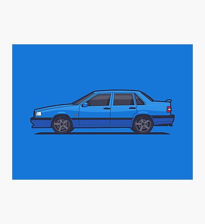 Volvo 850 T-5R Saloon (Blue) Photographic Print