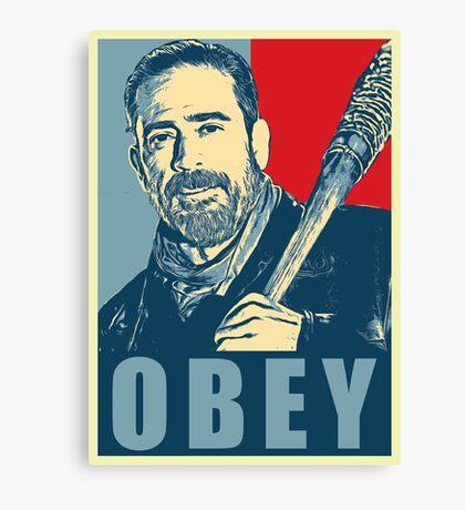 negan obey Canvas Print